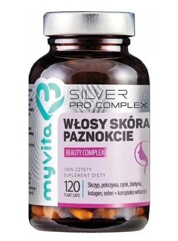 Silver Pure Włosy Skóra Paznokcie Beauty Complex, 120 kapsułek MyVita