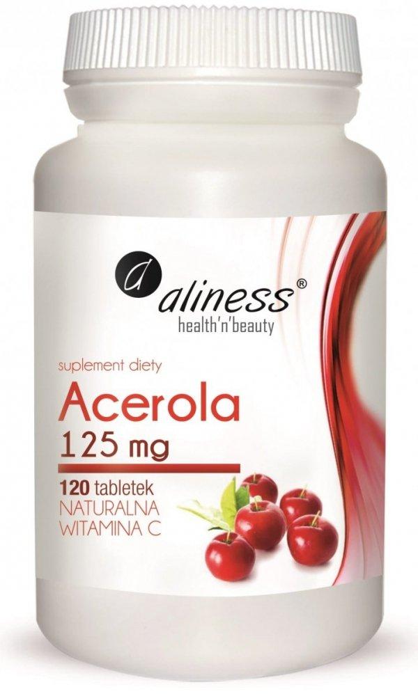 Acerola 125mg x 120 tab. Naturalna Vitamina C Aliness