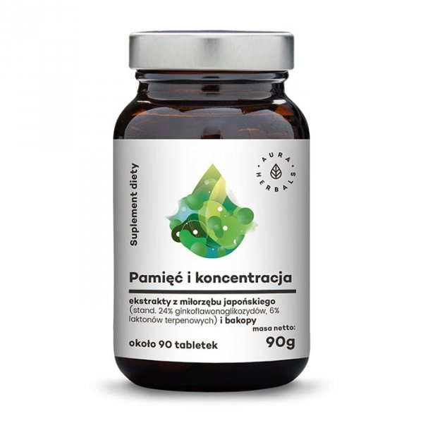 Aura Herbals Pamięć i Koncentracja 90 tabletek