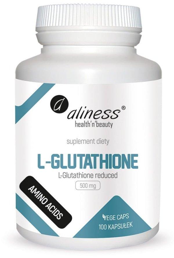 L-Glutathione reduced 500 mg x 100 Vege caps Aliness