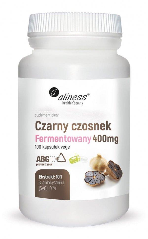 Czarny czosnek fermentowany ABG10+® 400 mg x 100 kaps Vege Aliness