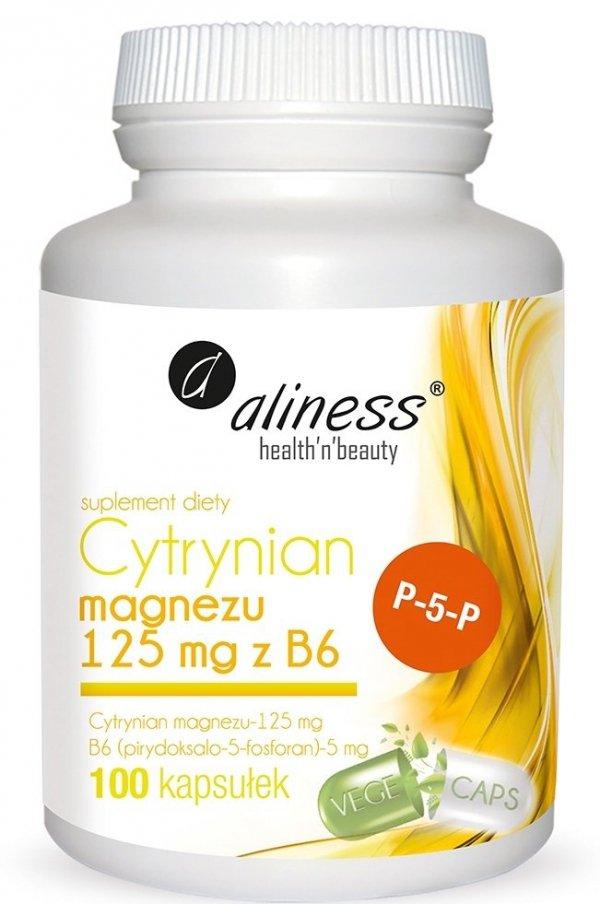 Cytrynian Magnezu 125 mg z B6 (P-5-P) Aliness