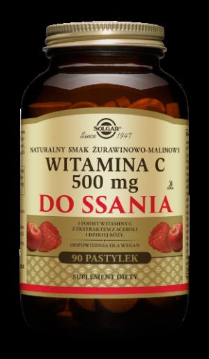 Solgar Witamina C 500 mg do ssania s. żurawina – malina