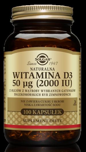 Solgar Naturalna witamina D3 50 µg 2000 IU