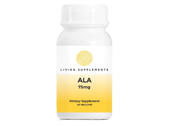 Kwas alfa liponowy ALA 75 mg - 90 kapsułek Alpha Lipoic Acid