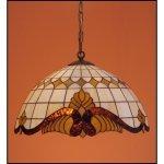 Żyrandol  witrażowy   Classic z karem średnica 50cm Baro