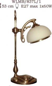 Lampka mosiężna JBT Stylowe Lampy WLMB/837L/1
