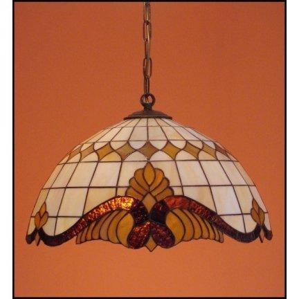 Żyrandol witrażowy  Classic z karem średnica 30cm Baro