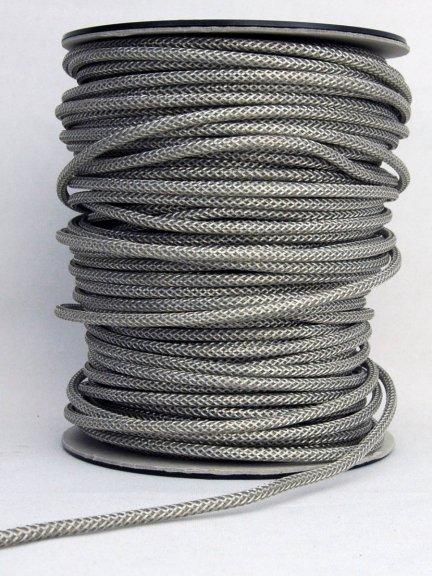 Kabel w oplocie metalowym 2x0,75 Duna przezroczysta