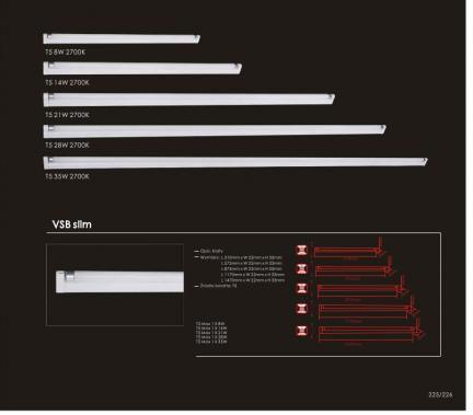 Oprawy świetlówkowe VSBSlim1x14W2700K Orlicki Design
