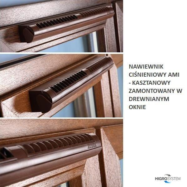 Nawiewnik ciśnieniowy akustyczny AMI (bez okapu) - 4 kolory