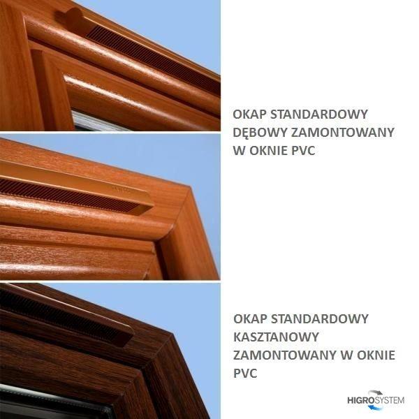 Nawiewnik higrosterowany EMM + okap standardowy - 4 kolory