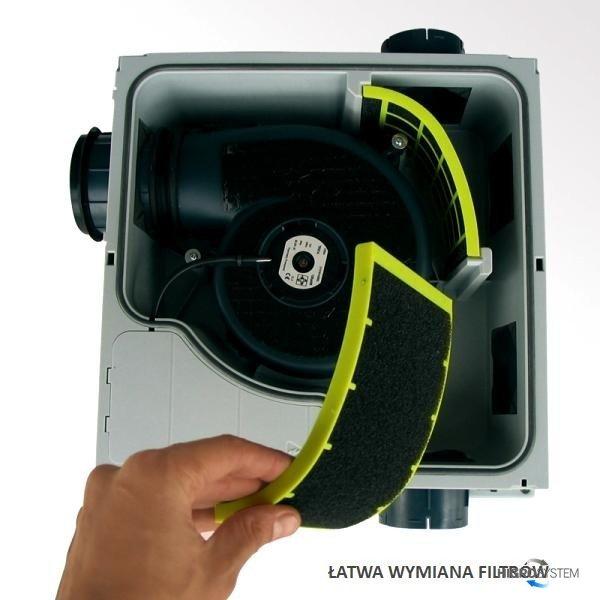 Wentylator akustyczny Aereco - V2A - 2 pomieszczenia