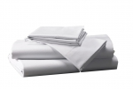 Prześcieradło białe hotelowe NORIS 180x200 100% bawełna