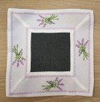 Serwetka ozdobna rozmiar 40x40 Lawenda Kolor: biało-czarna