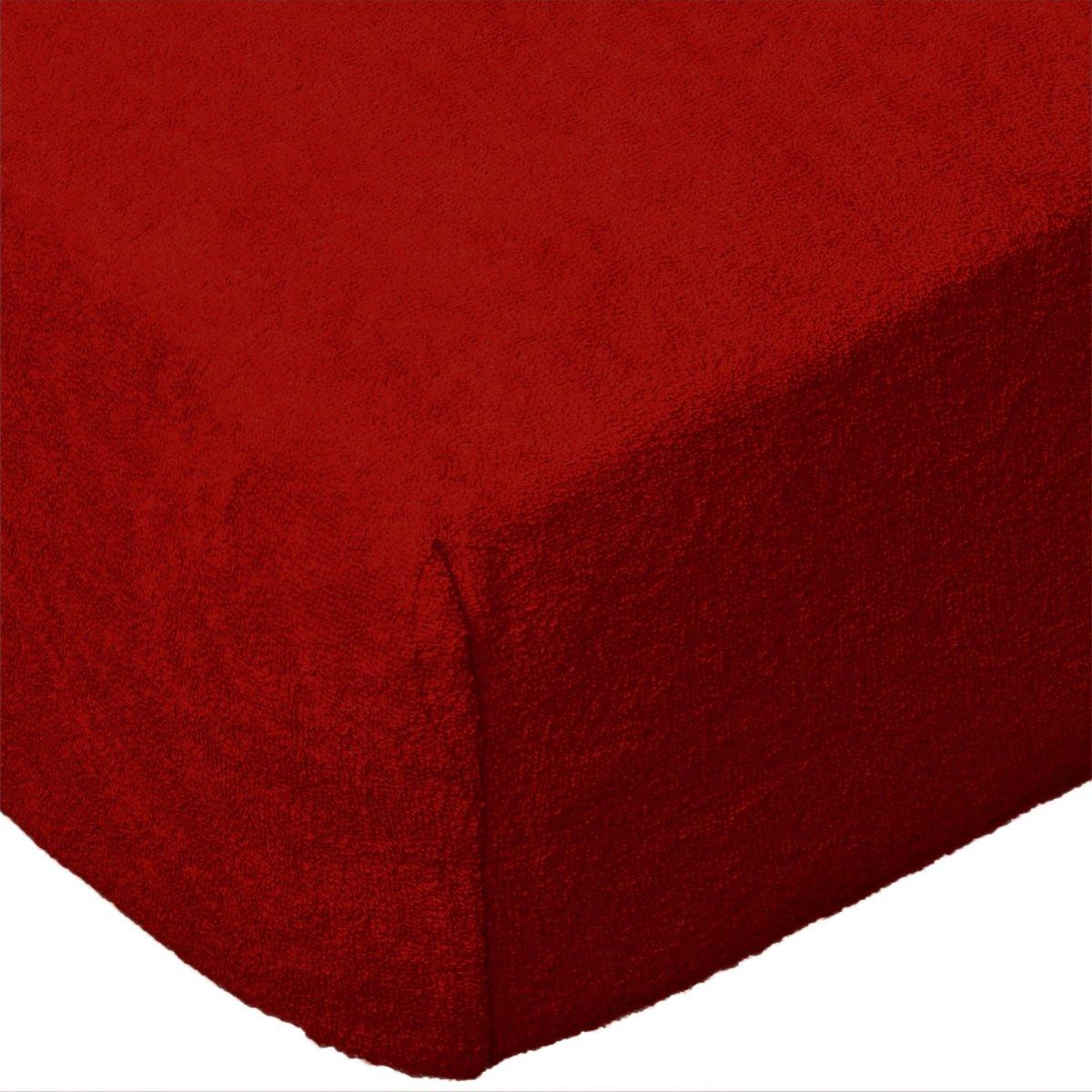 a919a9deecc6c Grube Prześcieradło FROTTE 160x200 na gumkę wz. 029 czerwony ...