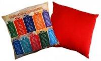 Poduszka matematyczna 40x40 wz. 05/czerwony