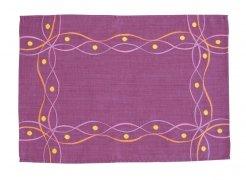Obrus Haftowany Bruna 58-1 35x170 cm kolor: fioletowy