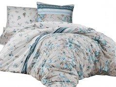 Pościel bawełniana DARYMEX kolekcja Exclusive Cottonlove 160x200 lub 140x200 + 2x70x80 wz. PEGGY TURQUOISE