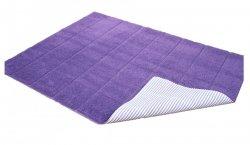 Dywanik łazienkowy prążki - antypoślizgowy 50x70 wz. P02 liliowy