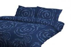 Poszewka 70x80, 50x60, 40X40 lub inny rozmiar -  jersey 100% bawełna wz. Spiral Blue