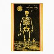 Ręcznik plażowy KOSTEK czarny - rozmiar 100x160
