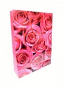 Ozdobne opakowanie, torebka na prezent 26x32 wz. Róża 01