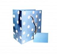 Ozdobne opakowanie, torebka na prezent 15x15  wz. CD-Sweet niebieski