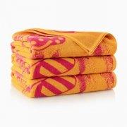 Ręcznik plażowy KLAPKI żółte - rozmiar 100x160