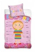 Pościel młodzieżowa 100% bawełna 160x200 lub 140x200  -  wzór: angielski dziewczynka