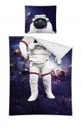 Pościel młodzieżowa 100% bawełna 160x200 lub 140x200  -  wzór: astronauta 2493