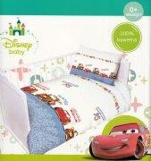 Pościel dziecięca Licencyjna do łóżeczka 100x135 wz. Cars - niebieski