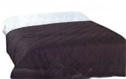 Narzuta dwustronna jednobarwna Ben 200x220 - kolor czarny