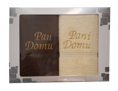 Komplet ręczników Pan i Pani domu kolor czekolada - krem