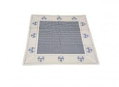 Walentynkowy Ozdobny obrus haftowany rozmiar 85x85 9247 HG Kolor: biało-niebieski