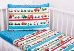 Pościel dziecięca  do łóżeczka 100x135 wz. Autka 093 NI