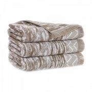 Ręcznik INDIANA z frędzlami 50x100 kolor beżowy
