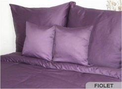 Poszewki na poduszki 40x40 satyna ANDROPOL wz. fiolet