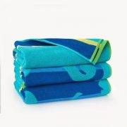 Ręcznik plażowy NAUTICAL turkusowy - rozmiar 100x160