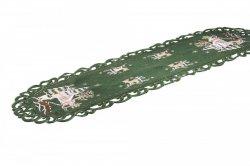 Obrus Świąteczny Boże Narodzenie wz. 272, rozmiar 40x90cm Kolor: zielony