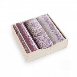 Komplet kuchenny dwóch ścierek  50x70 + ręcznik kuchenny 30x50 wz. 8475 bordo