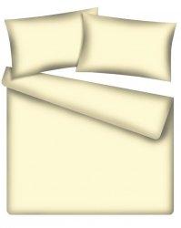 Komplet pościeli z bawełny satynowej 160x200 wz. kremowy
