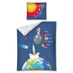 Pościel młodzieżowa 100% bawełna 160x200 lub 140x200 - Kosmos wz. 2751