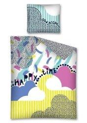 Pościel młodzieżowa 100% bawełna 160x200 lub 140x200 - Happy Time wz. 2657