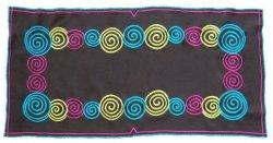Obrus  haftowany BRUNA  85x85cm wz. 08-1 kolor czarny