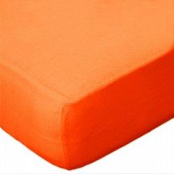 Prześcieradło jersey 220x200 z gumką wz. D035 (pomarańczowy)