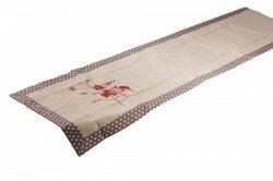 Świąteczny obrus haftowany NIKO rozmiar 60x120 wzór 2491