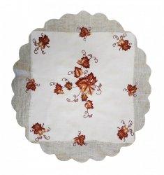 Obrus haftowany 60x60 cm koło wz. 1708