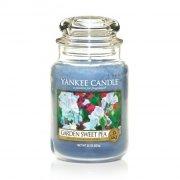Świeca Yankee Candle Garden Sweet Pea - duży słoik