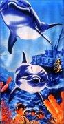 Ręcznik plażowy wz. Podwodny Świat 03 - rozmiar 70x148
